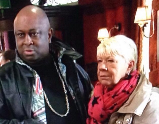 Big Mo with Shenton Dixon as Fat Elvis on EastEnders
